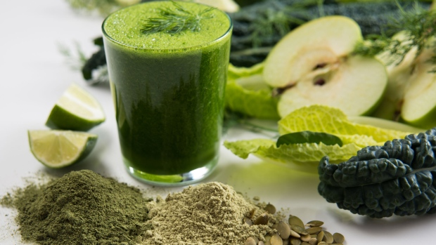 Green smoothie and healthy foods - Four Things to Consider Before you Plan a Detox or Cleanse blog post