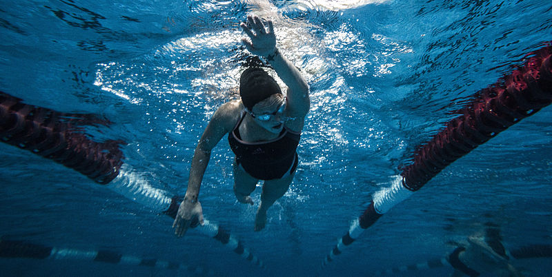 Woman swimming in pool - The vital ingredient?…Perseverance blog post