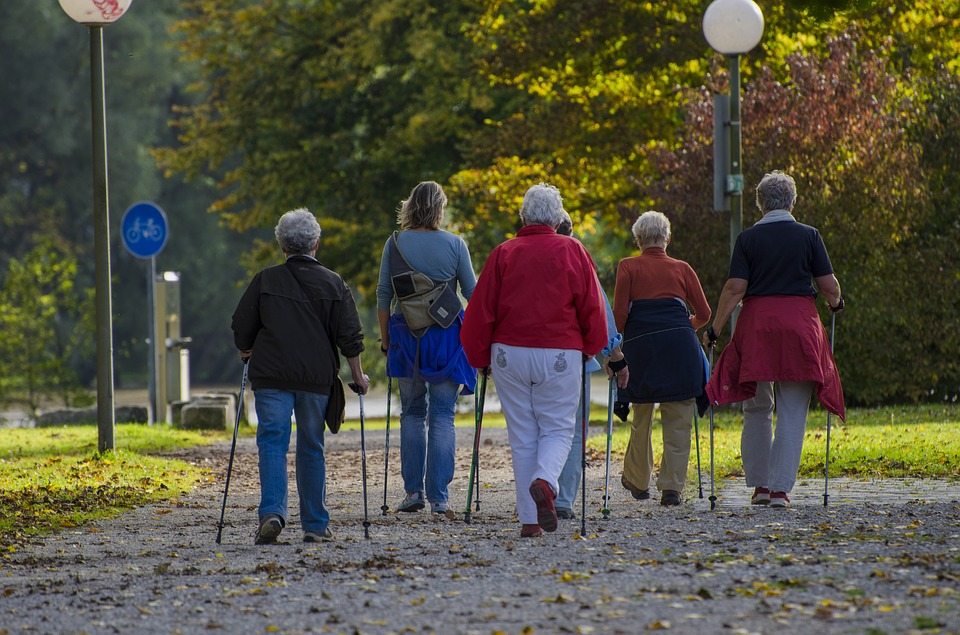 Older women walking with Nordic Poles - Nordic Poles blog post