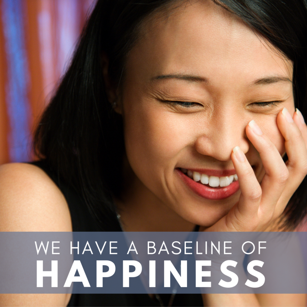 Smiling young woman - We have a baseline of Happiness picture for blog post