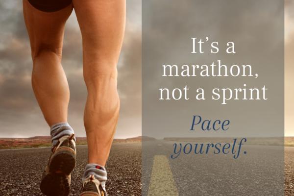 Jogger on It'a a Marathon Not a Sprint Blog Post